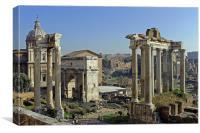 Roman Forum, Canvas Print
