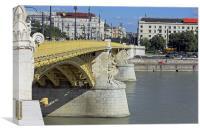 Margaret Bridge Budapest , Canvas Print
