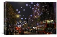 Oxford Street Christmas Lights, Canvas Print