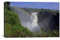 Waterfall Rainbow, Canvas Print