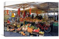 Fruit and Vegetable Market, Canvas Print
