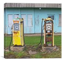 Petrol Pumps, Canvas Print