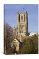 Ely Cathedral West Tower, Canvas Print