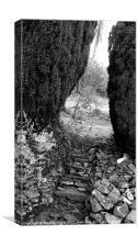 Slate Steps, Canvas Print