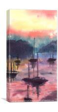 Purple Harbour, Canvas Print