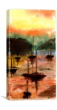 Sun Set Harbour, Canvas Print