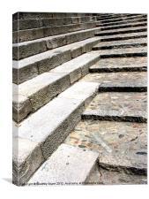 Pebble Steps, Canvas Print
