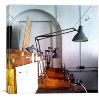 Work Station, Canvas Print