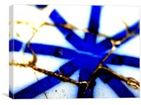 Blue Union, Canvas Print
