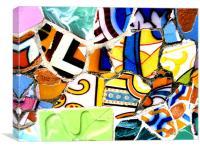 Gaudi Tiles, Canvas Print