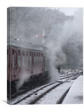 Winter Steam, Canvas Print