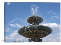 Paris Fountain, Canvas Print