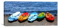 Canoes at Collioure, Canvas Print