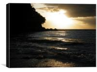 Sunset near Culzean, Canvas Print