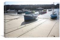 Boats at Mousehole Harbour, Canvas Print