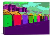 Brighton beach huts, Canvas Print