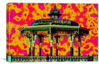 brighton uk band stand, Canvas Print