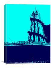 blue pier, Canvas Print