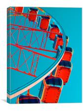 Brighton Eye Blue / Orange, Canvas Print
