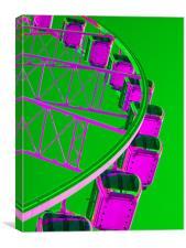 Brighton Eye Green / Purple, Canvas Print