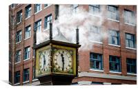 STEAM CLOCK gastown vancouver bc canada, Canvas Print
