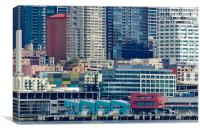 SEATTLE WATERFRONT piers and condos in downtown Se, Canvas Print