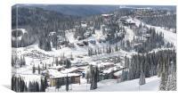 SILVERSTAR VILLAGE from above silver star ski resort vernon bc, Canvas Print