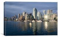 BEACH AVENUE downtown vancouver at sunset BC canada, Canvas Print