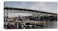 GRANVILLE BRIDGE, Vancouver to Granville Island, B, Canvas Print