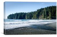 CHINA SURF china beach juan de fuca provincial park BC canada, Canvas Print