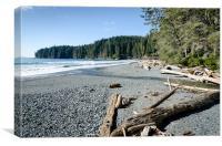 CHINA WIDE china beach juan de fuca provincial park vancouver island BC canada, Canvas Print