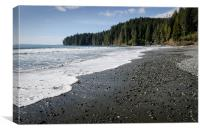 CHINA WAVE china beach juan de fuca provincial park vancouver island BC, Canvas Print