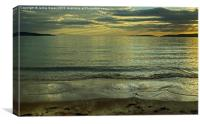 Sunset And Silver Seas, Canvas Print