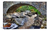 River Feshie At Feshiebridge, Canvas Print