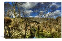 Birks Bridge,River Duddon, Canvas Print