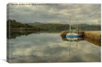A Highland Harbour, Canvas Print