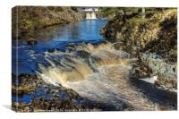 The River Tees, Canvas Print