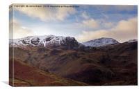 Dove Crag and Hart Crag, Canvas Print