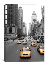 New York's Yellow Army, Canvas Print