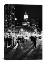 Empire State by Night, Canvas Print