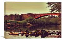Arley Bridge, Canvas Print