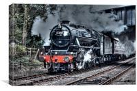 Black 5 train (44767), Canvas Print