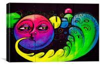 London Graffiti @ The Tunnel, Canvas Print