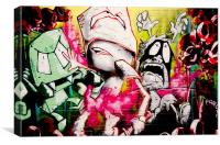 London Spray Paint Ghetto Hell At The Tunnel, Canvas Print