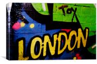 London Spray Paint  At The Tunnel - Graffiti, Canvas Print