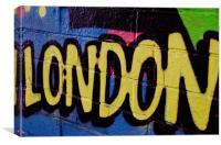 Graffiti Image - London Spray paint, Canvas Print