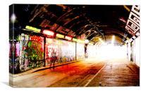 Graffiti Image - London Spray paint - Shadow, Canvas Print