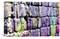 Graffiti Image - London Spray paint Wall, Canvas Print