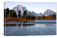 Grand Tetons Wyoming, Canvas Print