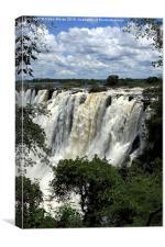 Victoria Falls On The Zambezi River, Canvas Print